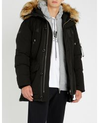 The Kooples Padded Shell And Faux-fur Hooded Jacket - Black