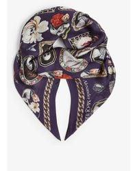 Alexander McQueen Cameo Curiosity Graphic-print Silk Scarf - Multicolor