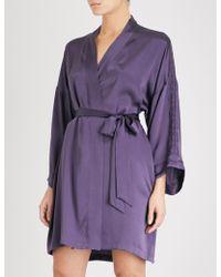 Nk Imode - Ulrika Silk-satin Robe - Lyst