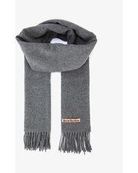 Acne Studios Canada Narrow Wool Scarf - Grey