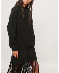 Acne Studios - Dramatic Wool And Mohair-blend Jumper - Lyst