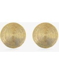 Rokus Full Moon 22ct Gold-plated Vermeil Sterling-silver Earrings - Metallic