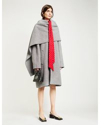 Balenciaga Shawl-neck Houndstooth Wool-blend Coat - Multicolour