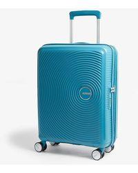 American Tourister Soundbox Expandable Four-wheel Cabin Suitcase 55cm - Blue