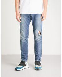 b52971ee DIESEL Krooley-ne Sweat Jeans in Yellow for Men - Lyst