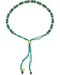 Astley Clarke - Biography Malachite 18ct Gold-plated Beaded Bracelet - Lyst