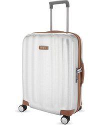 Samsonite Lite-cube Dlx Four-wheel Spinner Suitcase 55cm - White