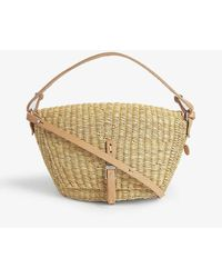 Muuñ Fille Holly Straw Crossbody Bag - Natural
