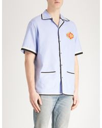Gucci - Logo-embroidered Regular-fit Cotton Shirt - Lyst