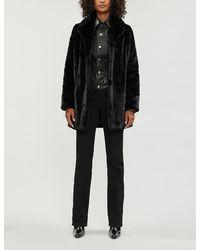 J Brand Dorene Slim-fit Faux-fur Coat - Black