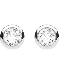 Thomas Sabo - Classic White Zirconia Stone Sterling Silver Ear Studs - Lyst
