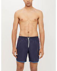 Gucci - Side-stripe Swim Shorts - Lyst
