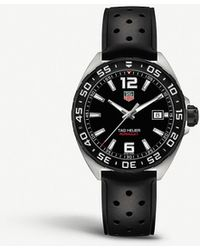 Tag Heuer Waz1110.ft8023 Formula 1 Polished Steel Watch - Black