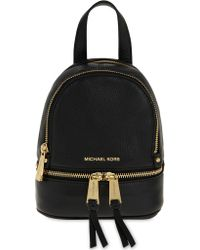2be1938513de MICHAEL Michael Kors Rhea Extra-small Grained Leather Backpack in ...