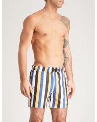 Sandro - Striped Swim Shorts - Lyst