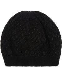 Sandro - Metallic Knitted Beanie Hat - Lyst