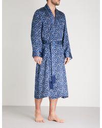 769efef61c Lyst - Derek Rose Verona 33 Embroidered Silk Dressing Gown in Blue ...