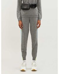 Chinti & Parker Side-stripe Logo-embroidered Cashmere jogging Bottoms - Gray