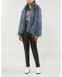 Zadig & Voltaire Fridy Faux-fur Coat - Multicolour