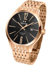 TW Steel - Tw1308 Slim Line Rose Gold-plated Stainless Steel Watch - Lyst