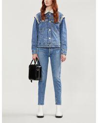 Sandro Embellished Denim Jacket - Blue