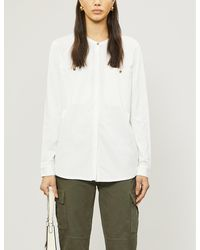 The White Company Wide-pocket Jersey Shirt - White