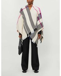 Maje Emmy Striped Knitted Cape - Multicolour