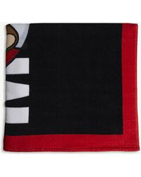 Moschino Rescue Teddy Cotton Beach Towel - Black