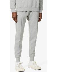 PREVU Mens Grey Logo-print Cotton-blend Jogging Bottoms L