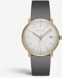 Junghans 047/7853.00 Max Bill Ladies Stainless Steel And Leather Watch - Metallic