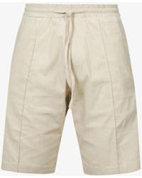 PREVU Salvatore Logo-patch Stretch-woven Shorts - Natural