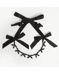 Simone Rocha - Ribbon And Crystal Necklace - Lyst