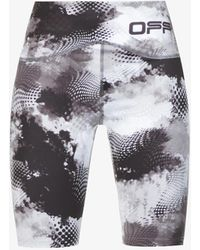 Off-White c/o Virgil Abloh Printed Stretch-jersey Bicycle Shorts - Grey