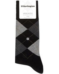 Burlington Manchester Original Cotton Socks - Black