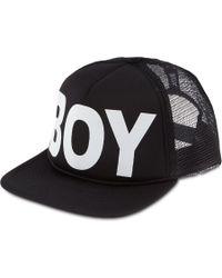 BOY London Snapback Trucker Cap - Black