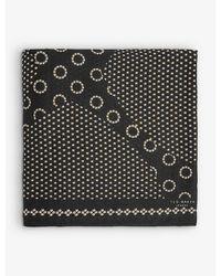 Ted Baker Thaymi Woven Floral-print Metropolis Wide Scarf - Black