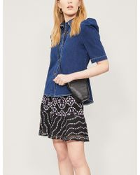 b61ff8dc0 Sandro - Ornel Floral-pattern Woven Skirt - Lyst
