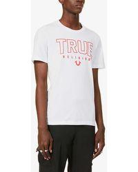 True Religion Logo-print Cotton-jersey T-shirt - White