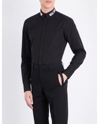 Givenchy - Real Eyes Contemporary-fit Cotton Shirt - Lyst