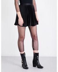 Anna Sui - Pleated Charmeuse Skirt - Lyst