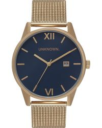 Unknown Un15da08 The Dandy Gold-toned Stainless Steel Watch - Blue