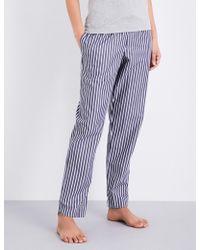 Sunspel | Striped Cotton Pyjama Bottoms | Lyst