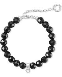 Thomas Sabo - Charm Club Obsidian Bead Charm Bracelet - Lyst