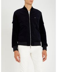 Emporio Armani - Corduroy And Velour Bomber Jacket - Lyst
