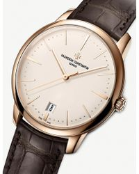 Vacheron Constantin - 4100u/000r-b180 Patrimony Small Model 18ct Rose-gold And Alligator Strap Watch - Lyst