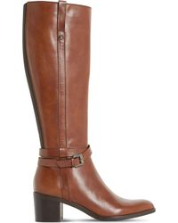 Dune Black - Timmie Leather Knee-high Boots - Lyst