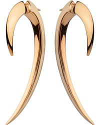 Shaun Leane - Silver And Rose Gold-plate Hook Earrings Size 1 - Lyst