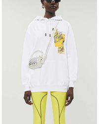 Off-White c/o Virgil Abloh Graphic-print Cotton-jersey Hoody - White
