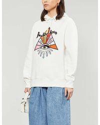 Sandro Indie Graphic-print Cotton-blend Sweatshirt - White