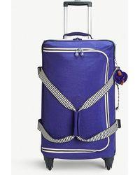 Kipling Summer Purple Mix Cyrah Four Wheel Suitcase